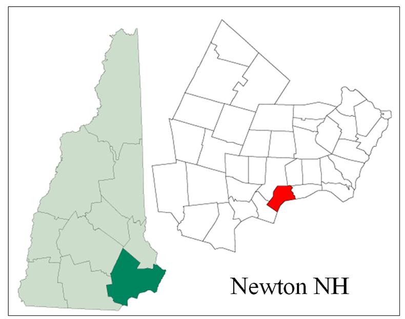 Newton NH Map