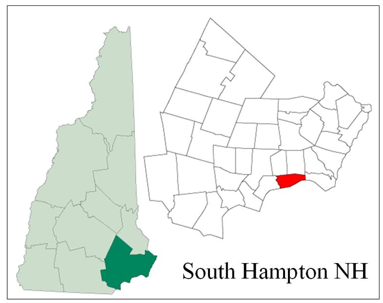 South Hampton NH Map