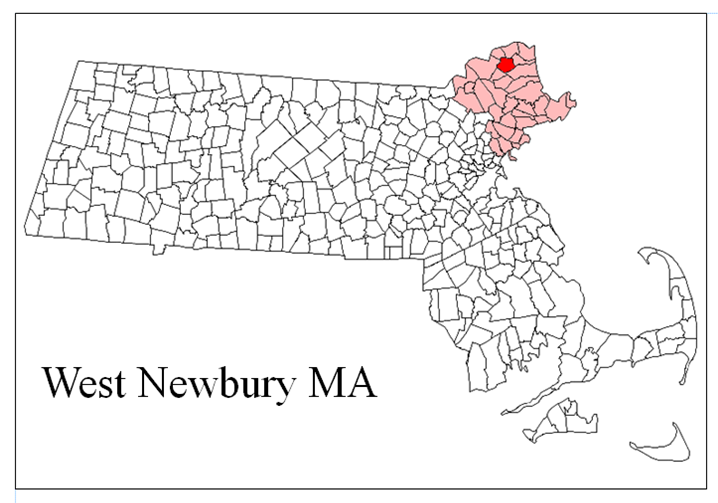 West Newbury MA Map