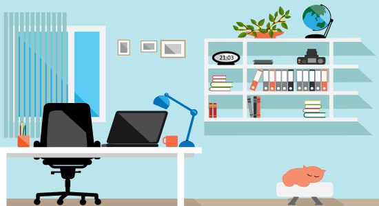 Home office Illustration