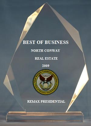 2009 Best of Business Award in Real Estate (SBCA)
