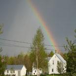 Rainbow over Denmark, ME