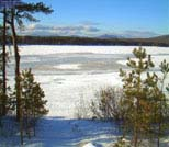 Winter on Ossipee Lake, Ossipee, NH