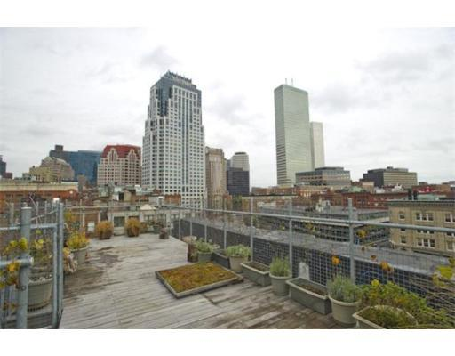 rooftop terrace deck Penthouse Boston Loft