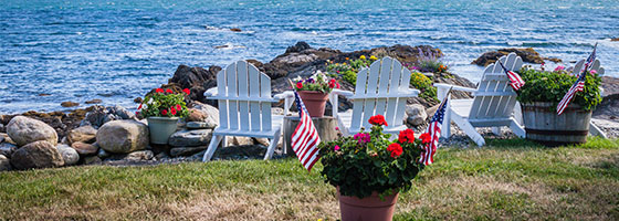 Adirondack Chairs & Shoreline