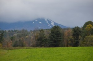 Mt. Mansfield in the clouds, Stowe, VT. Jeff Beattie photo taken 10/12/12