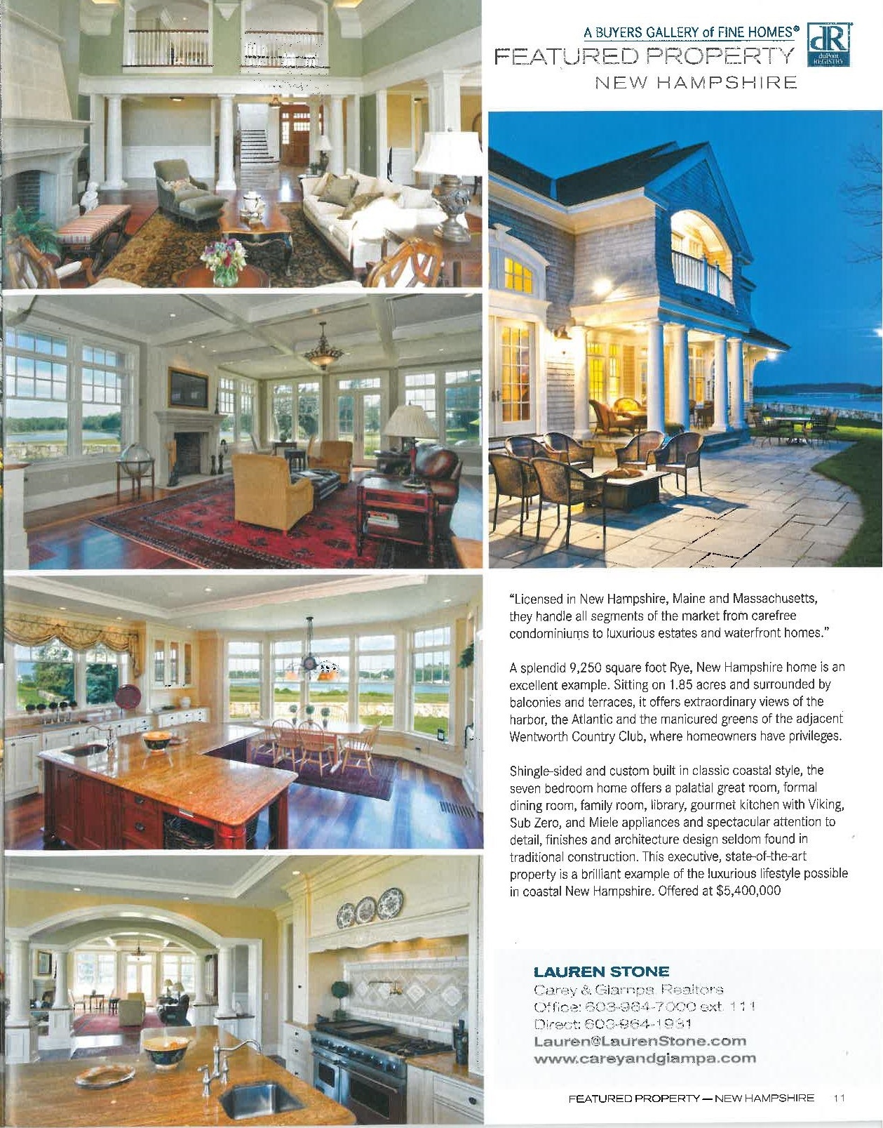 DuPont Registry Featured Property