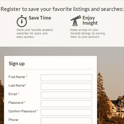 Register to Save Maine Real Estate