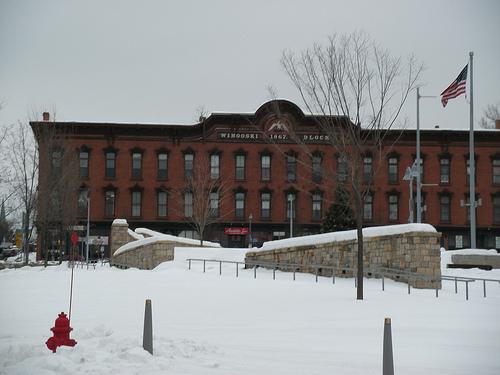 Downtown Winooski in the winter