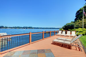 A deck with direct access to Lake Winnipesaukee NH