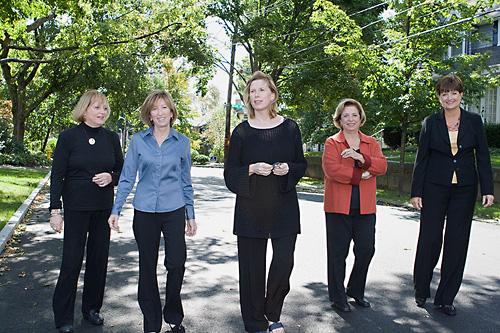 Geri Shea, Karen Lilley, Judy Conley, Lois Ardito, Deborah Heffernan