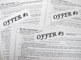 Multiple offer situation tips when buying a home.