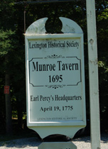 Monroe Tavern, Lexington MA
