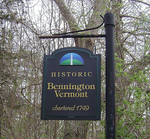 Bennington VT welcome sign