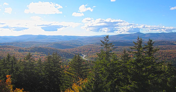 Vermont Fall Foliage Hike on Mount Olga