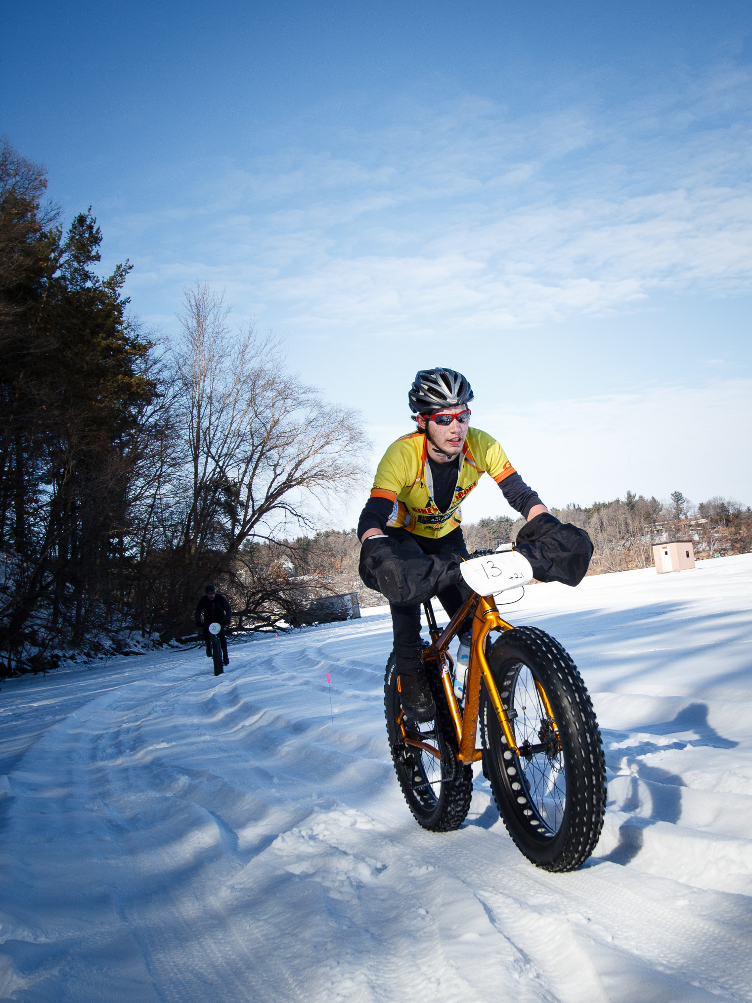 Winter biking vermont