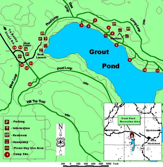 Grout Pond Trails - Snowshoeing