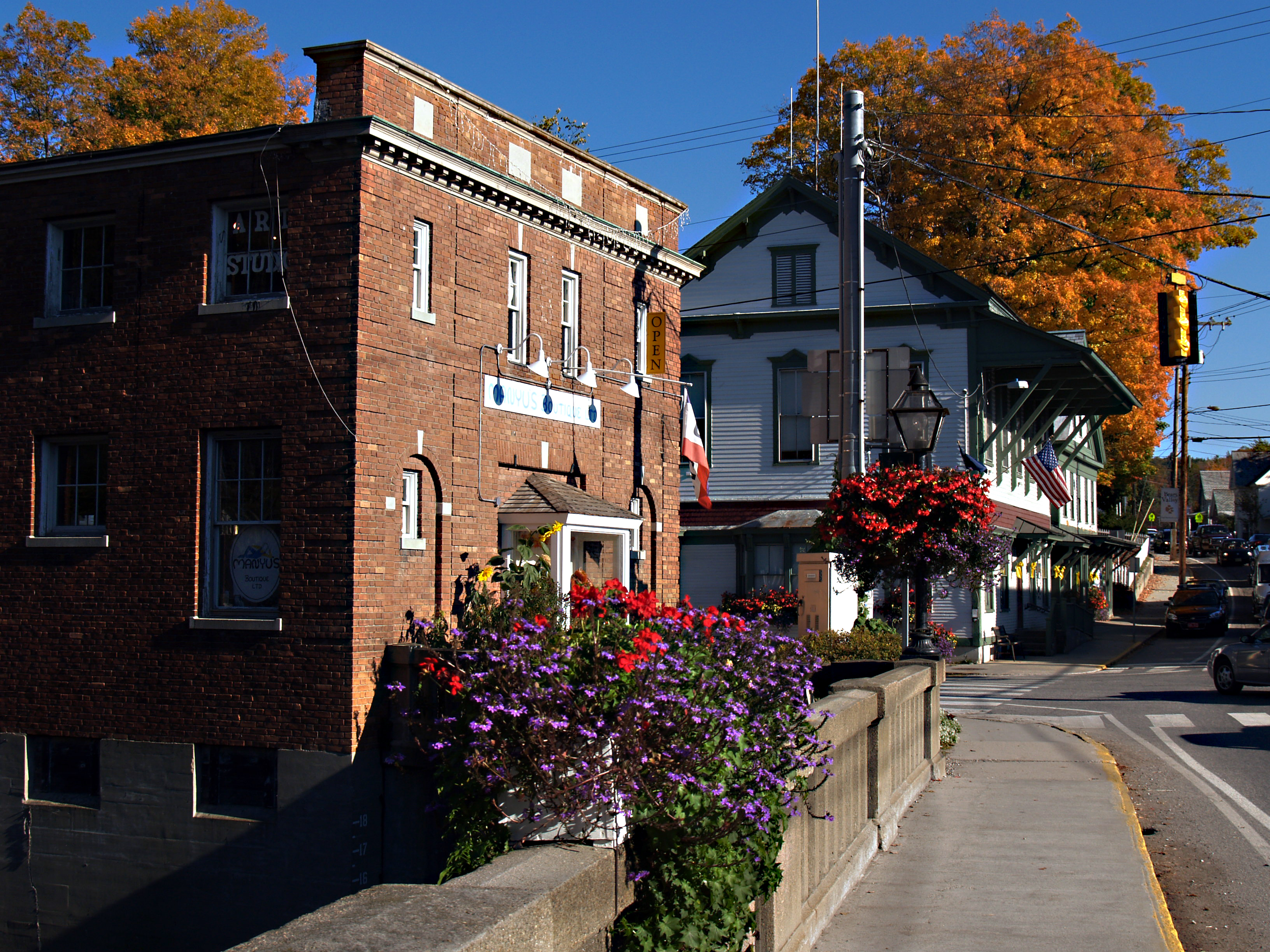 Wilmington, Vermont on the Scenic Route 100 Byway