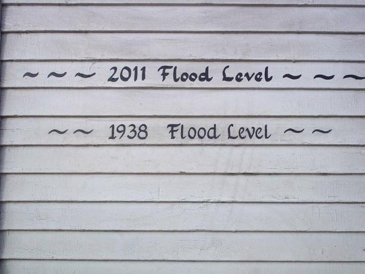 2011 and 1938 flood level, wilmington, vermont