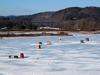 Ice Shanties on the Retreat Meadows