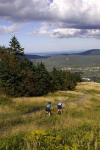 Mountain biking at Mount Snow