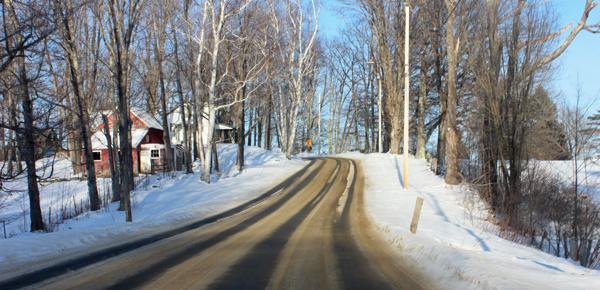 Vermont Ski Trip Road