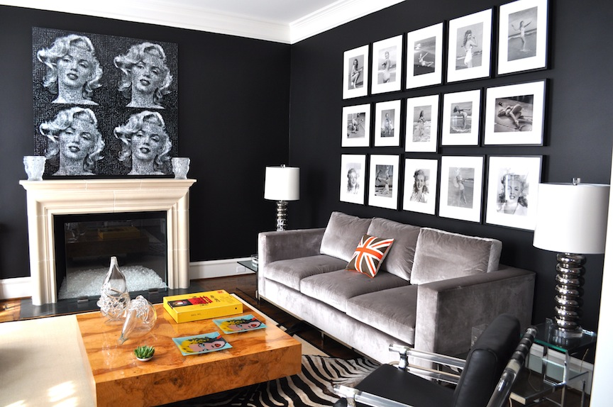 Room Painted Black black painted rooms - home design