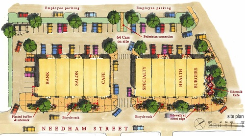 Needham Street site plan