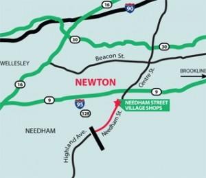 Needham street map
