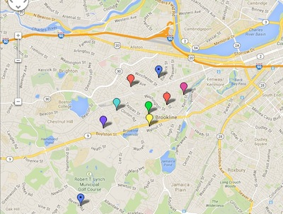 brookline school map