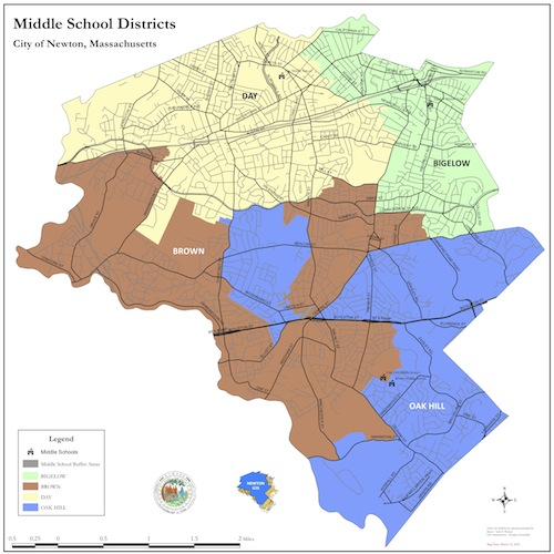 middle school district map