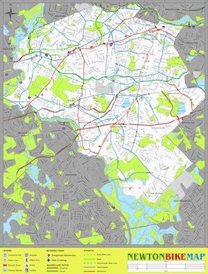 newton bike map