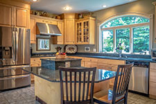 Gourmet Kitchen in contemporary Adirondack home in Bartlett, NH