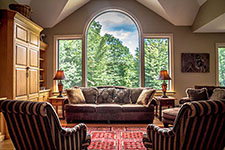Great Room Great View of contemporary Adirondack home in Bartlett, NH
