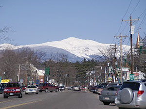 Mount Washington from North Conway Village NH