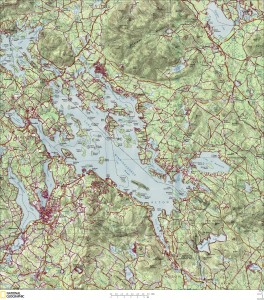 Map of Lake Winnipesaukee
