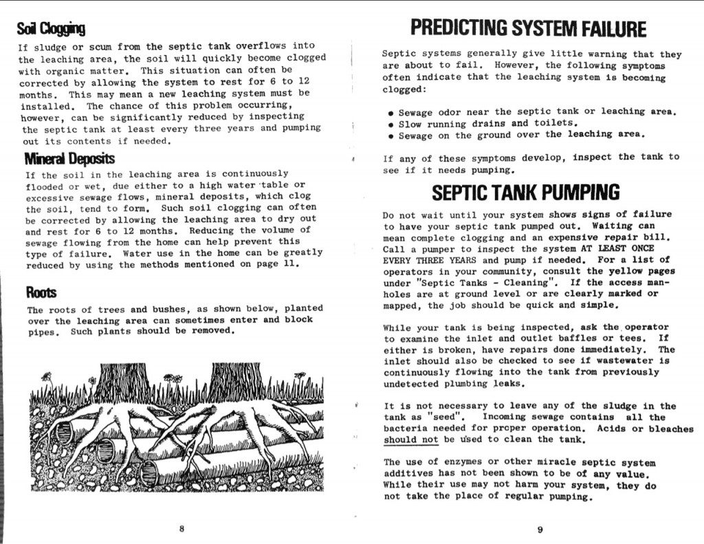 1978 State of Vermont Agency of Environmental Conservation Septic Systems Pamphlet b_Page_06