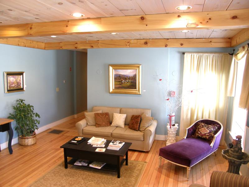 Love sofa splendor in the heart of Warren Village.