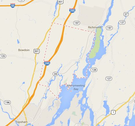 Map of Bowdoinham Maine