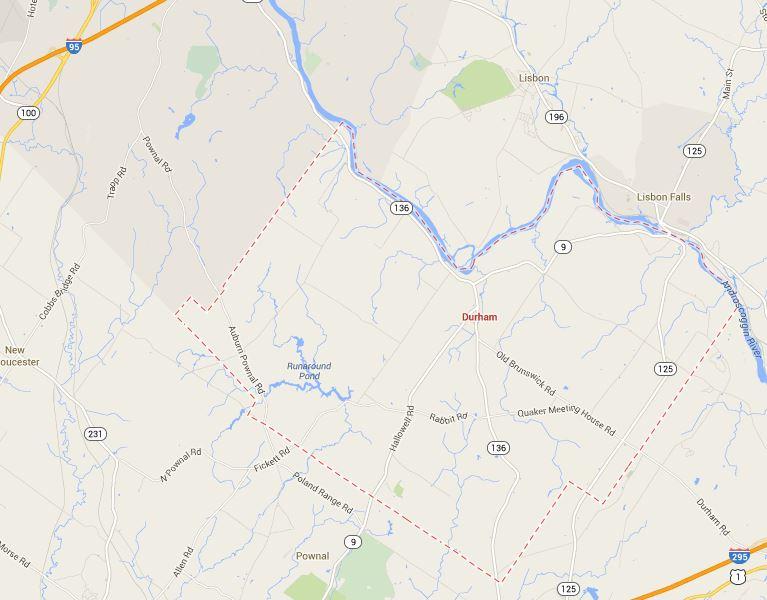 Durham Maine Map