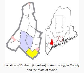 Location of Durham ME