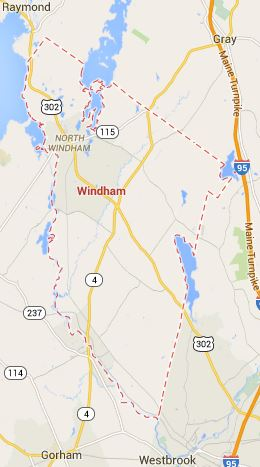Map of Windham Maine