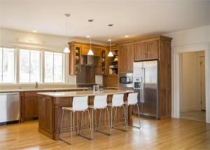 Winter wood kitchen