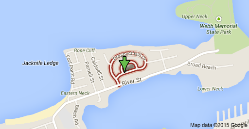 Map of Prospect Hill Drive in Weymouth, MA