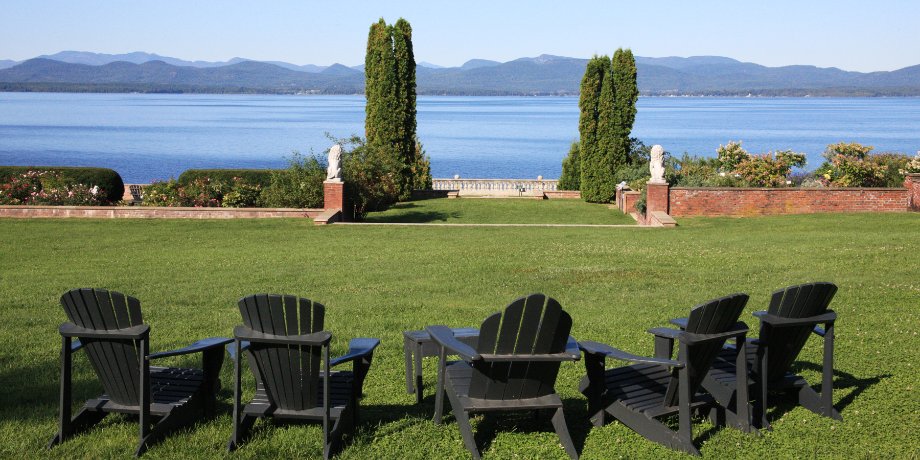 View of Lake Champlain from Shelburne Farms
