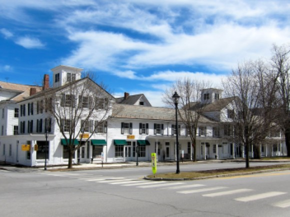 A street view of a commercial property in Southern Vermont