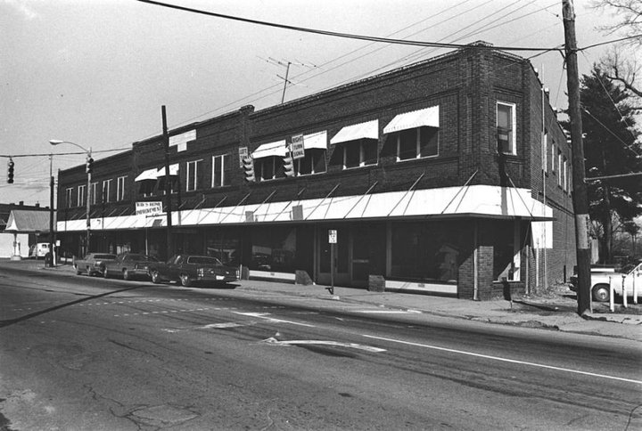 Bledsoe Building in West Ashville circa 1976