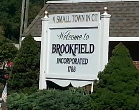 Brookfield CT Town Sign