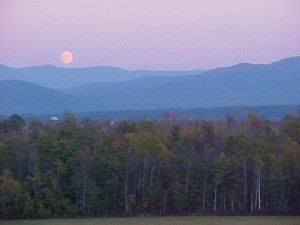 Moonrise over Middlebury Gap