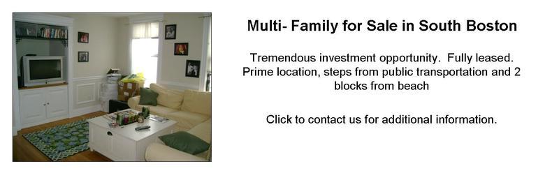 South Boston MA Multifamily Homes